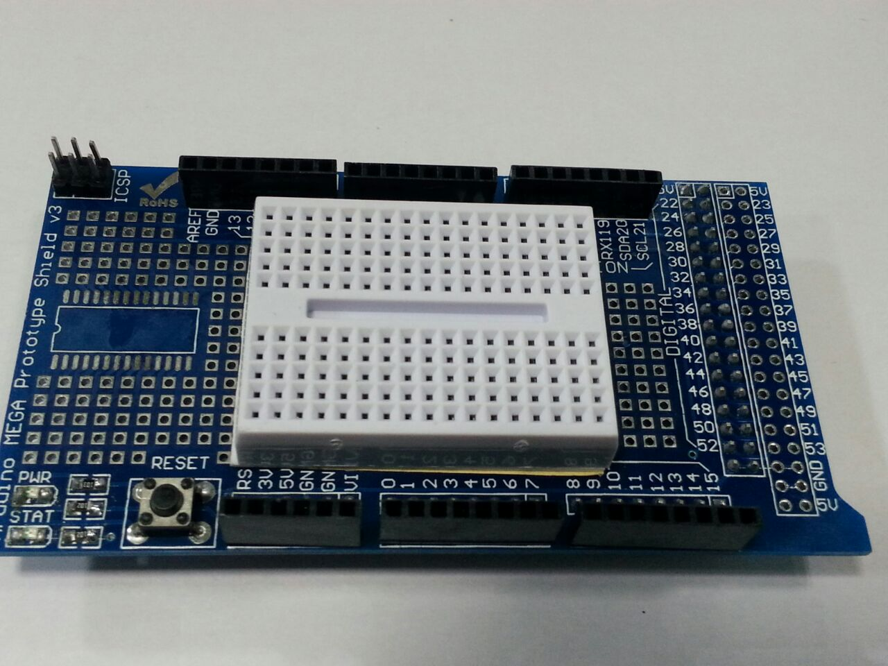 Mega Shield Breadboard Rajiv Electronics Breadboards Are Used To Prototype Electronic Circuits Without Having